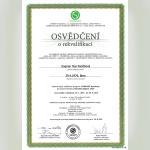 Certifikát - Dagmar Pančíková