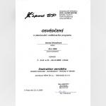 Certifikát - Denisa Chlustinová