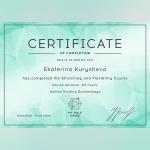 Certifikát - Ekaterina