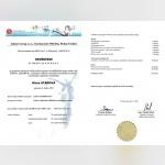 Certifikát - Klára Stáňová