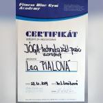 Certifikát - Lea Pialová