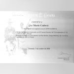 Certifikát - Marie Čadová