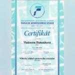 Certifikát - Vlaďka Matoušková