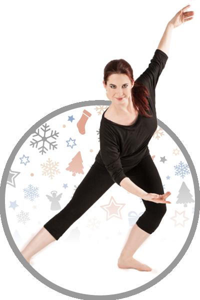 Sváteční lekce tance a cvičení pro chvíle pohody