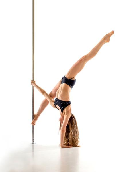 Pole dance technika: mírně pokročilí a výše