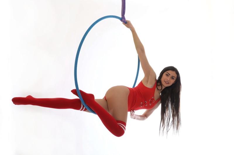 Aerial hoop: choreo a kombinace