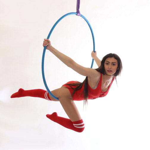 Aerial Hoop: začátečníci a výše