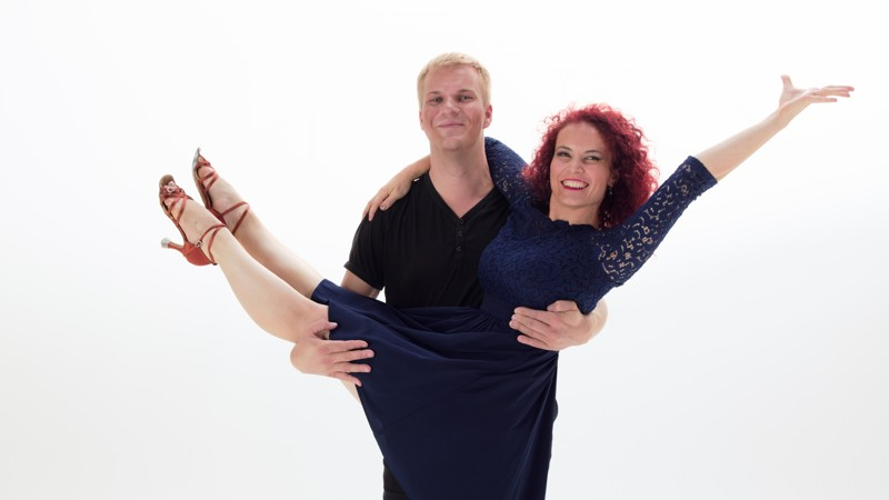 Latin dance sólo choreografie